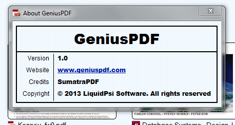 Windows] Genius PDF is a full-featured PDF reader and