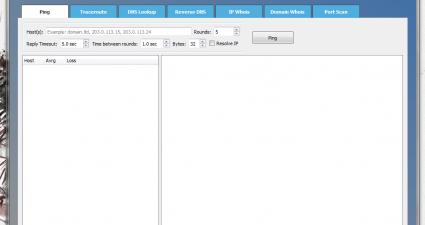 NetToolset Ping tool