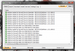 Portable Update install history