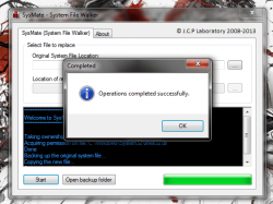 SysMate operation completed