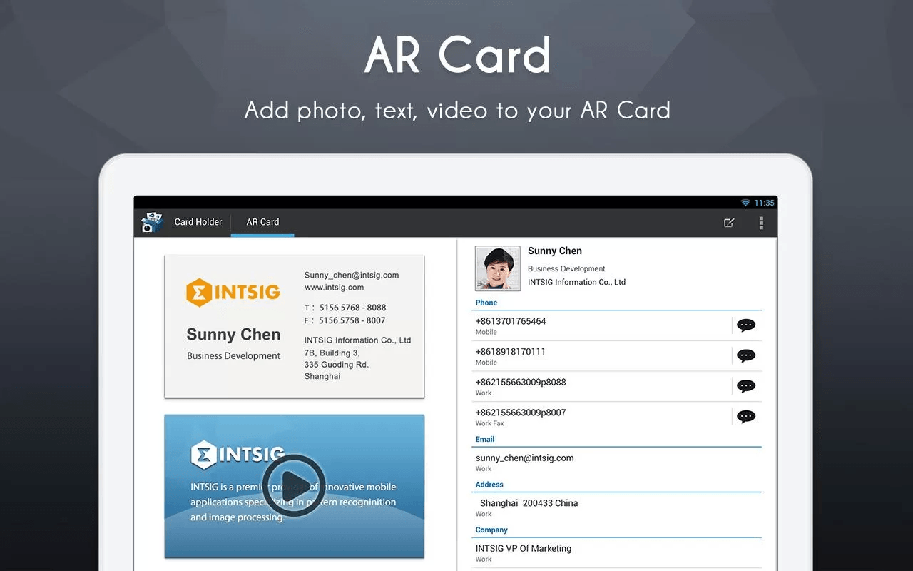 Android] Scan, save, and manage business cards with CamCard Free ...