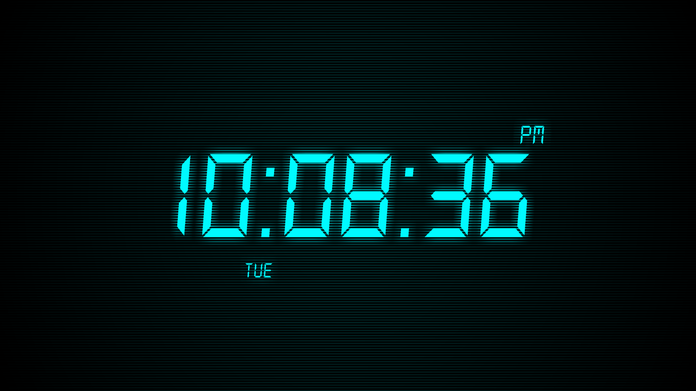 Windows] Turn your screensaver into a digital clock with Clock