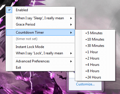 how to stop computer going to sleep mode