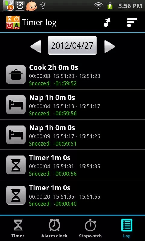 Android] Timers4Me is an alarm clock, timer, and stopwatch