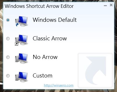 Windows] Replace or remove the arrow icon on shortcuts with