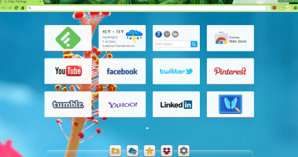 X New Tab Page Chrome Preview