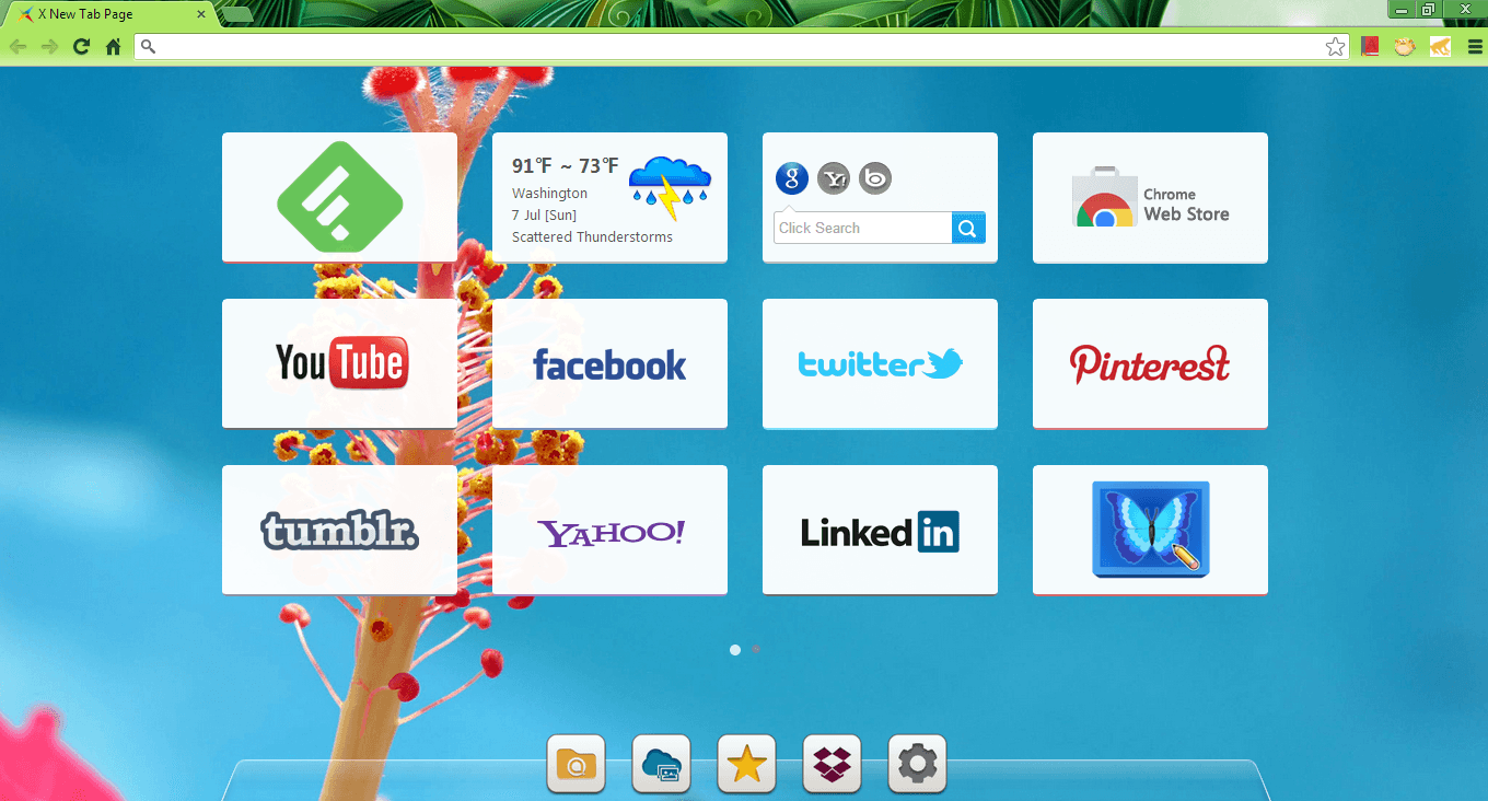 Customize your new tab page with X New Tab Page [Chrome, Firefox