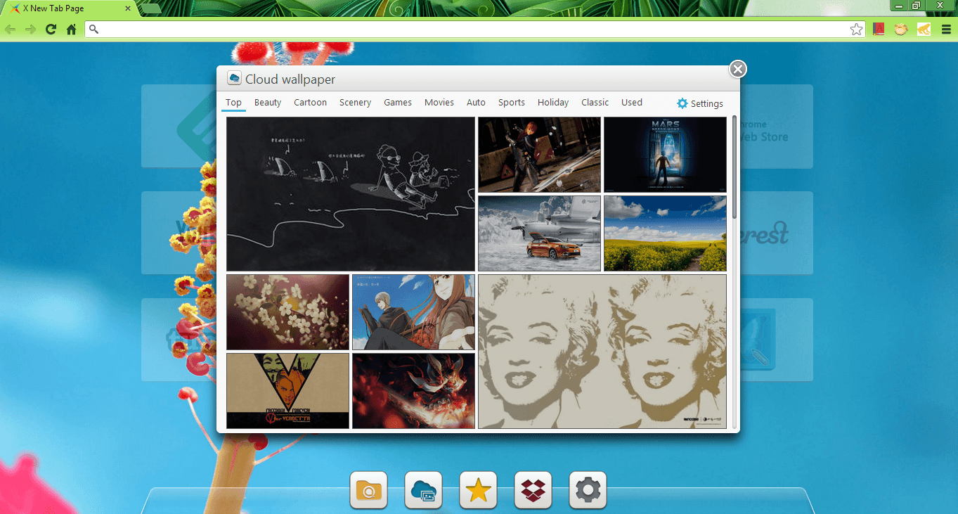 Customize your new tab page with X New Tab Page [Chrome