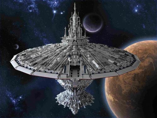 Epic Model Of Battlestar Galactica Cylon Baseship Made