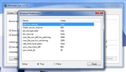 BitTorrent Sync advanced preferences