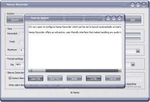 Hanso Recorder Text-to-Speech