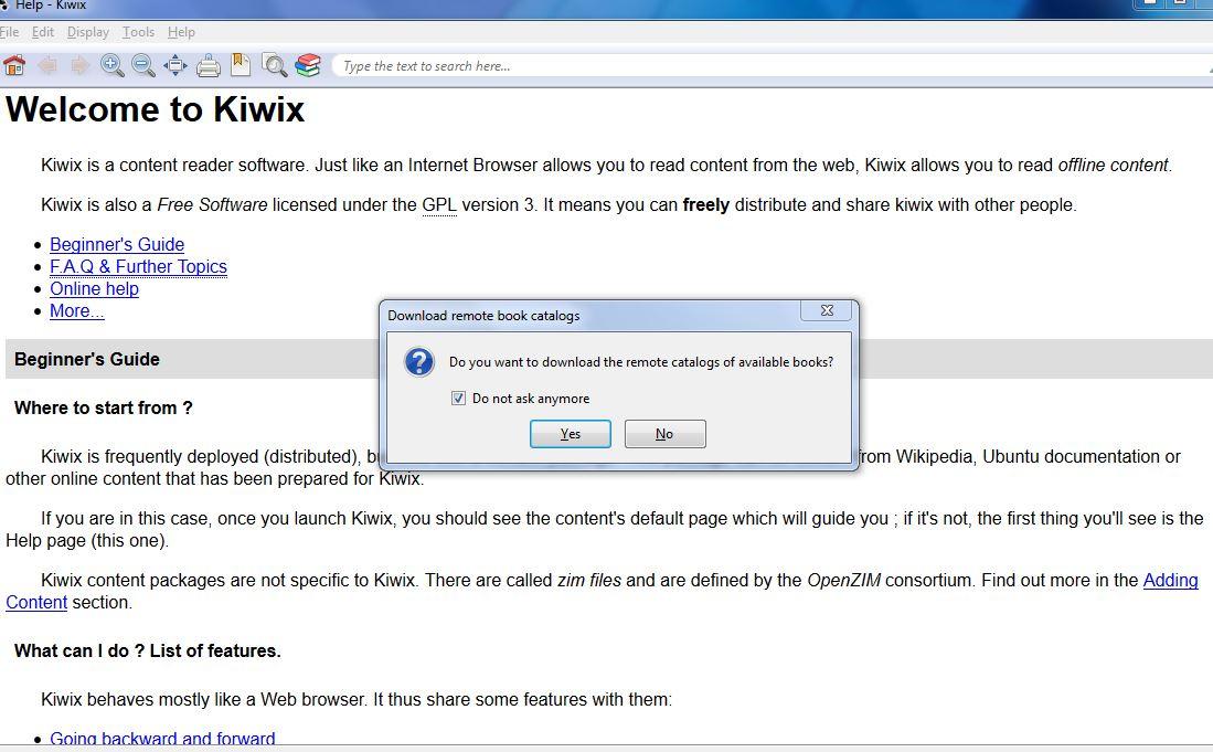 Windows] Kiwix is a portable offline Wikipedia reader [Android, Mac