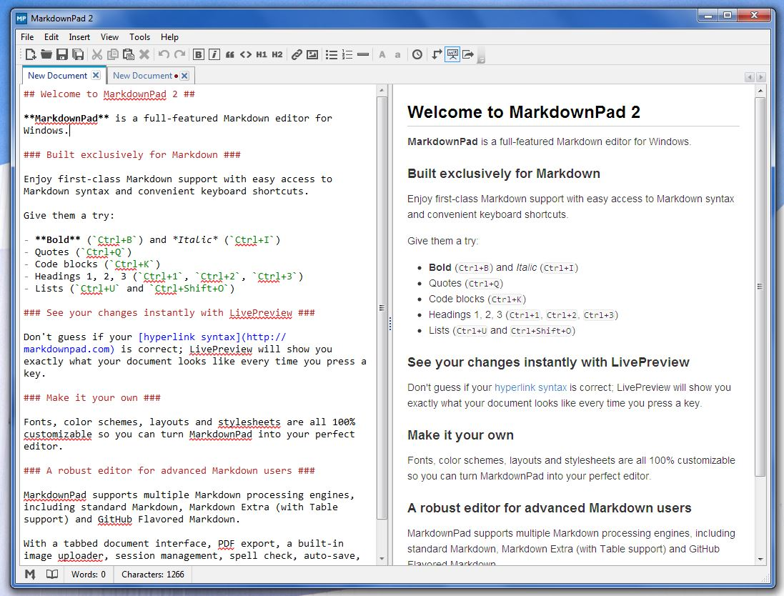 Windows] MarkdownPad is a unique text editing tool, allows you to