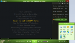 QQ Media Player Custom Skin Green