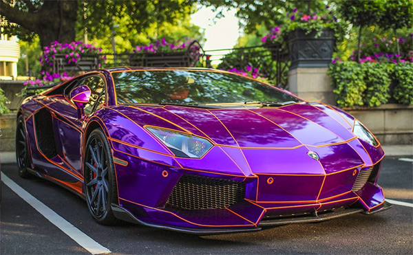 If I Were Rich I Would Own This Purple Lamborghini That Glows In The Dark