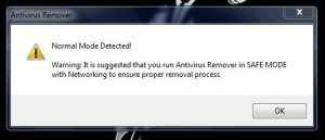 Antivirus Remover normal mode detected