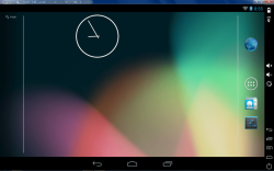 Genymotion Android homescreen