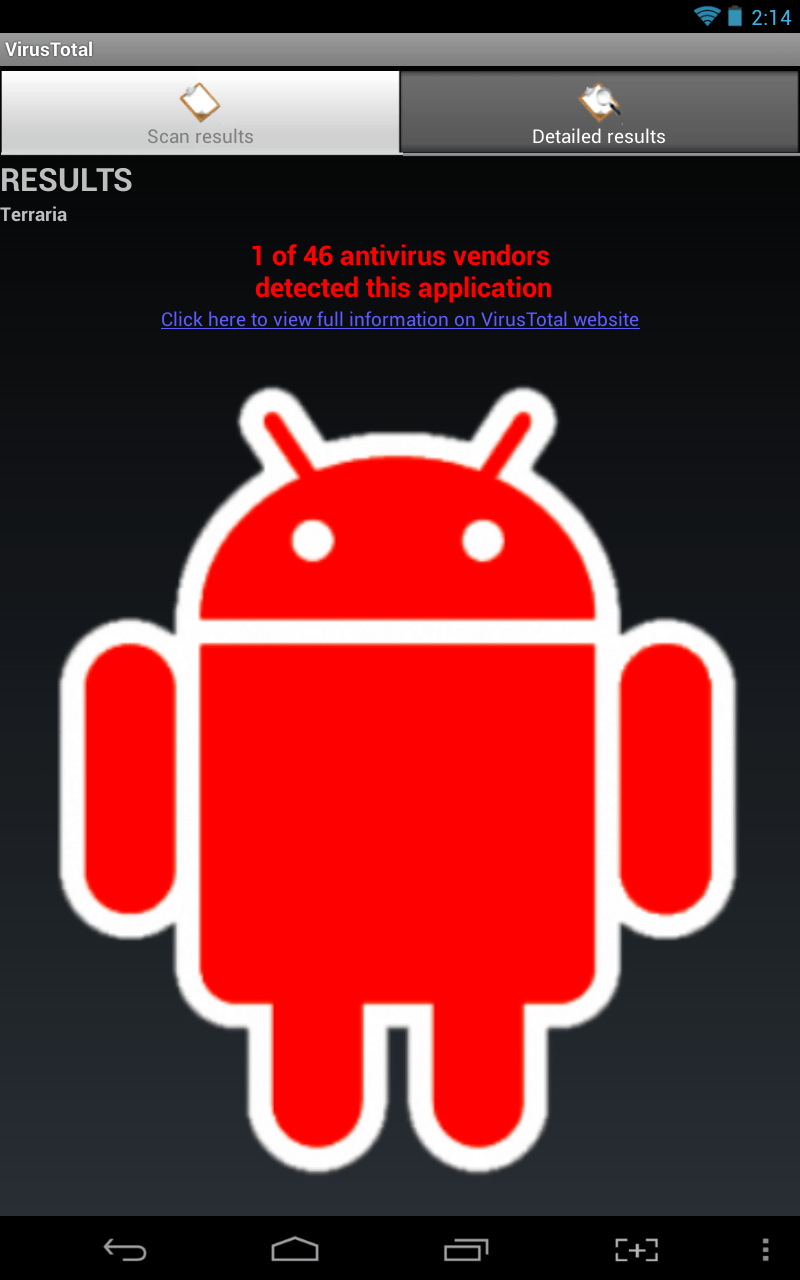 Android] VirusTotal for Android scans your apps with 40
