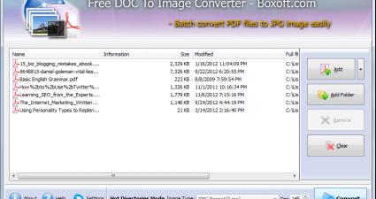 Boxoft Doc to Image Converter