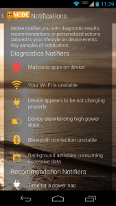 Mobie alerts and notifications