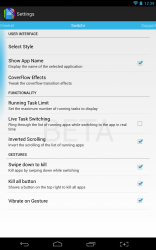 Switchr personalization settings