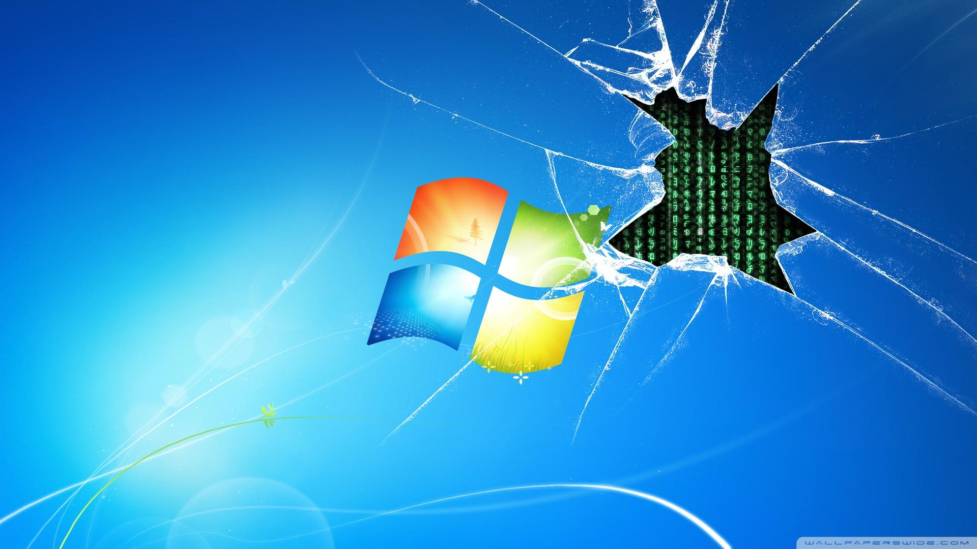 Windows 7 runs on the matrix wallpaper dottech matrixgotwindows7 wallpaper 1920x1080 voltagebd Gallery
