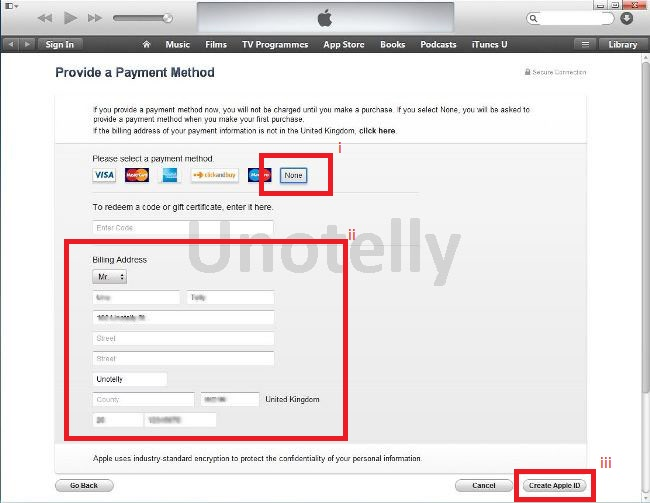 How to open apple store account