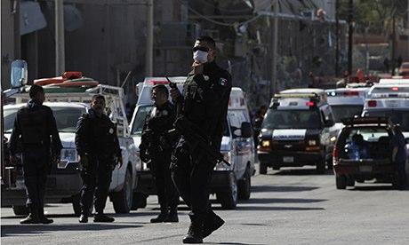 Police officers in Ciudad Juarez