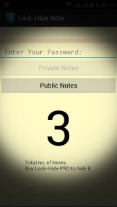 Lock-Hide Note App