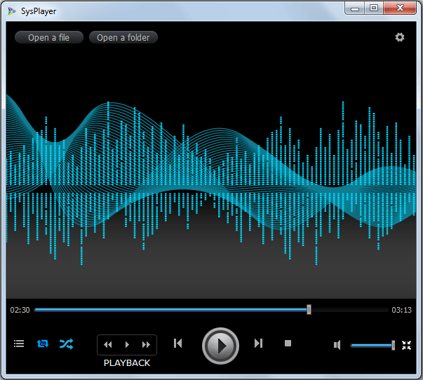 Windows] SysPlayer is a lightweight video and audio player