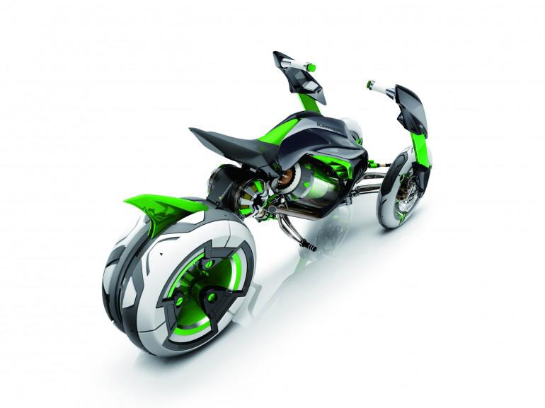 Kawasaki J 3 Wheeler Concept Motorcycle Image Dottech