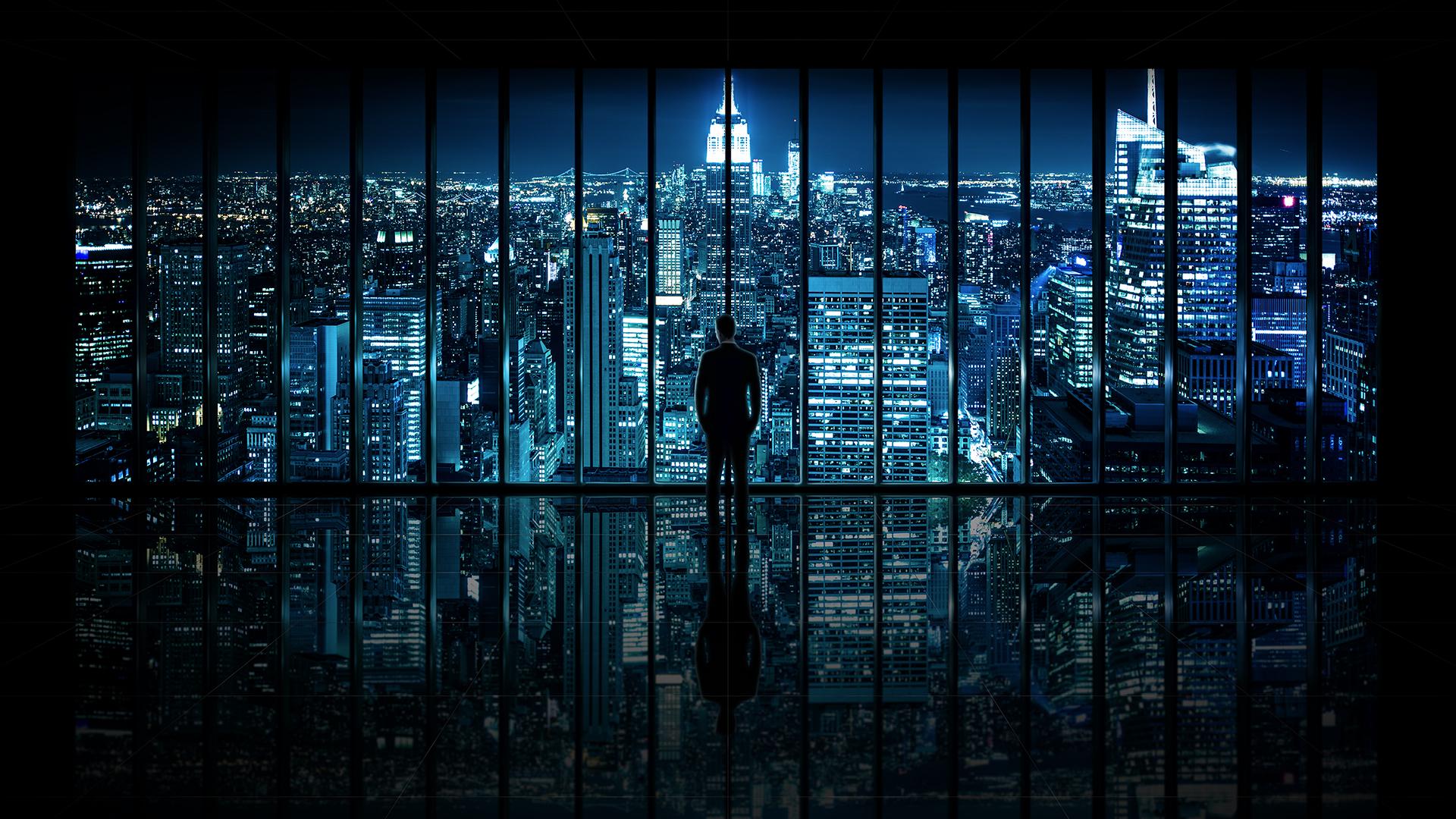 Window to gotham city wallpaper dottech - Gotham wallpaper ...