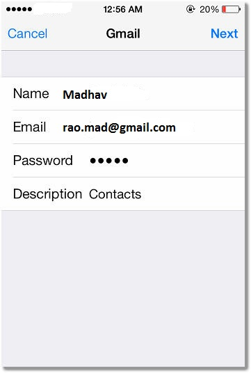 Add Google Account iPhone