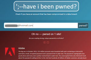 Have I Been Pwned Scrnshot2