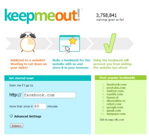 KeepMeOut for Web
