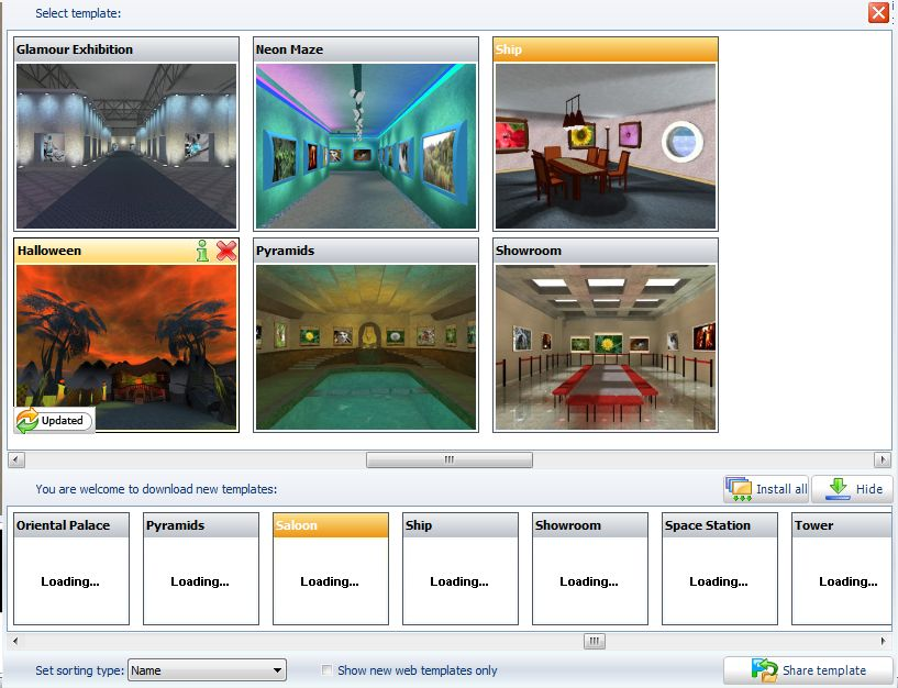How to create 3D museum-like gallery with your photos and images on ...