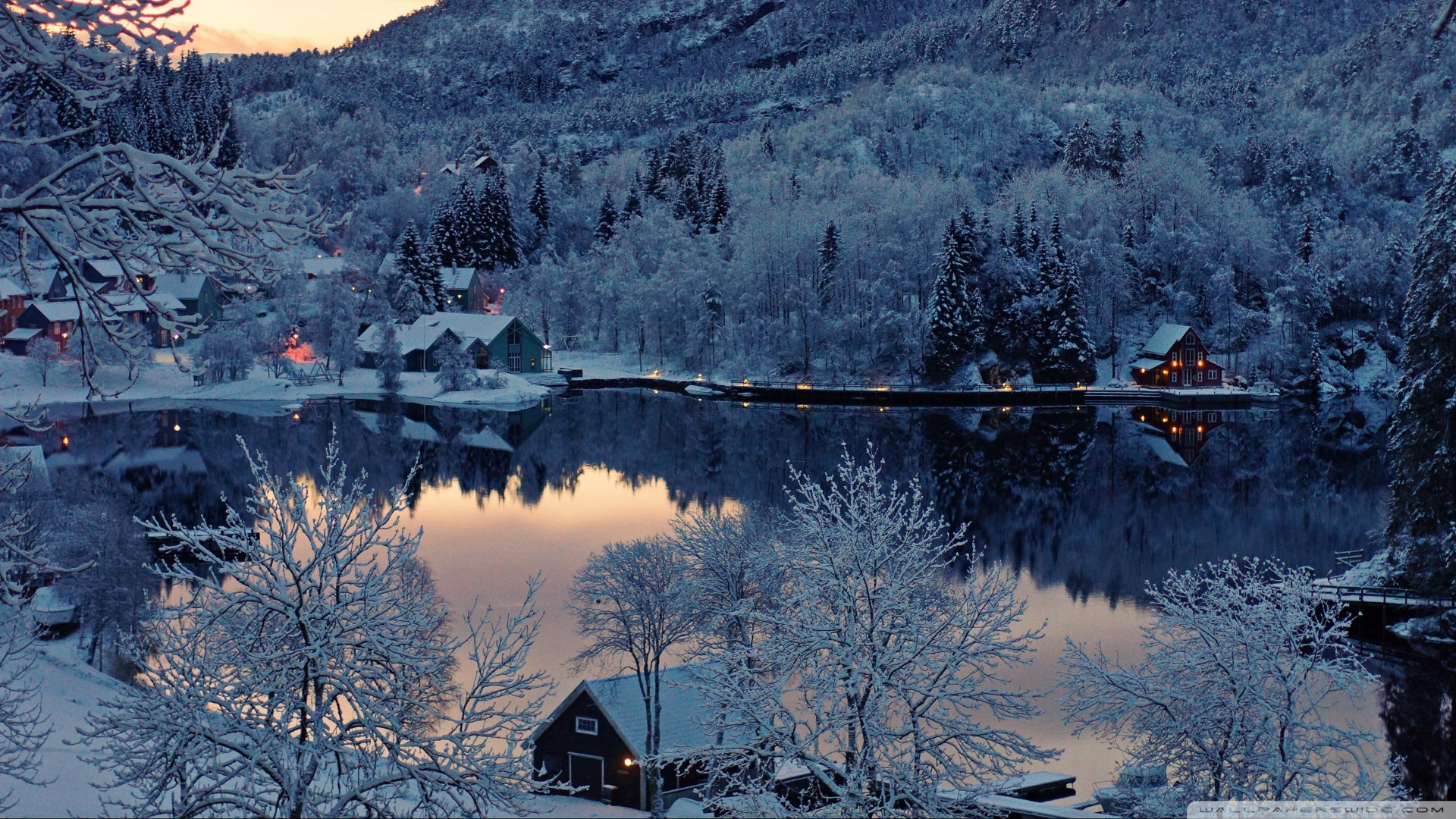 villages in the midst of winter wallpaper dottech midst of winter wallpaper dottech