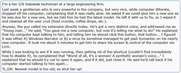 talking computer