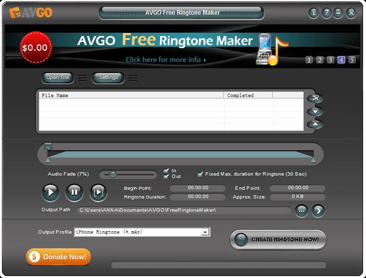 [Windows] Create custom ringtone with AVGO Free Ringtone Maker   dotTech