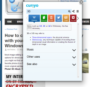 Curiyo Quick Search