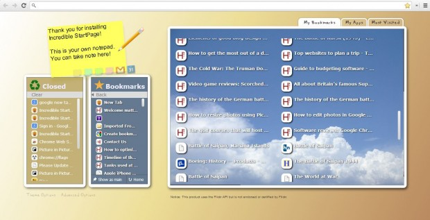 Google tab page 2