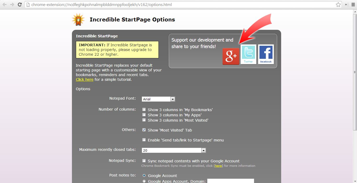 How to turn useless new tab page into a productive start page on