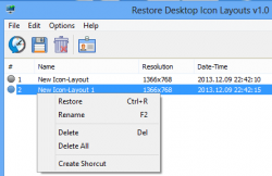 ReIcon Restore Desktop Icons