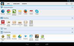 Glextor App Manager Organizer Light Theme