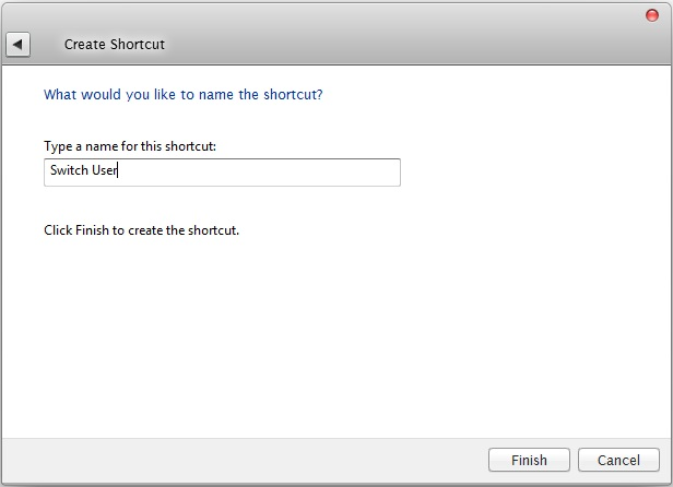 Switch User Shortcut