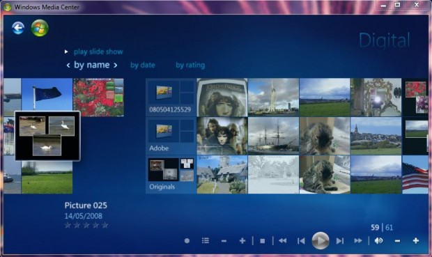 Windows 7 Media Centre 5