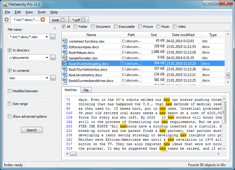 Windows] FileSearchy is a new, fast file and folder search