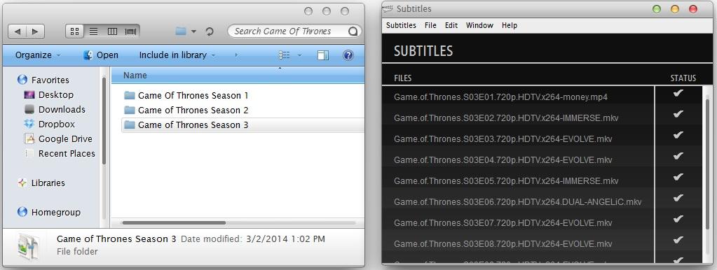 game of thrones mp4 subtitles