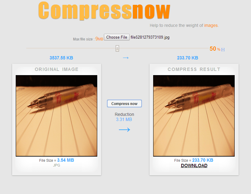 Web] Easily compress PNG, JPG, and GIF images with Compressnow ...