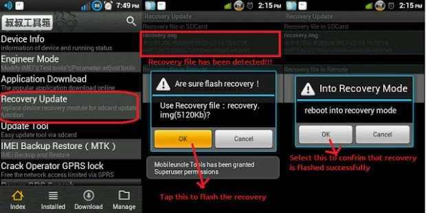 Flash recovery via Mobileuncle Tools
